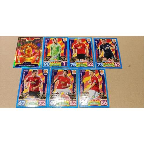 topps MATCH ATTAX Premier League 17/18 trading cards MAN UNITED
